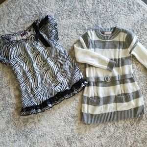 Other - Girls size 6 dressy clothes zebra shirt and tunic